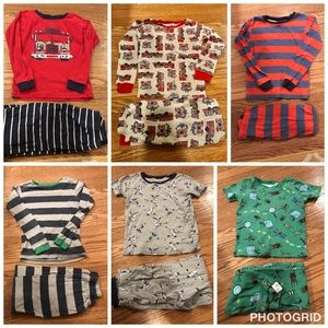 6 pairs Of Carter's size 7 pjs